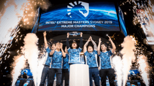 Team Liquid lift the trophy at IEM Sydney 2019