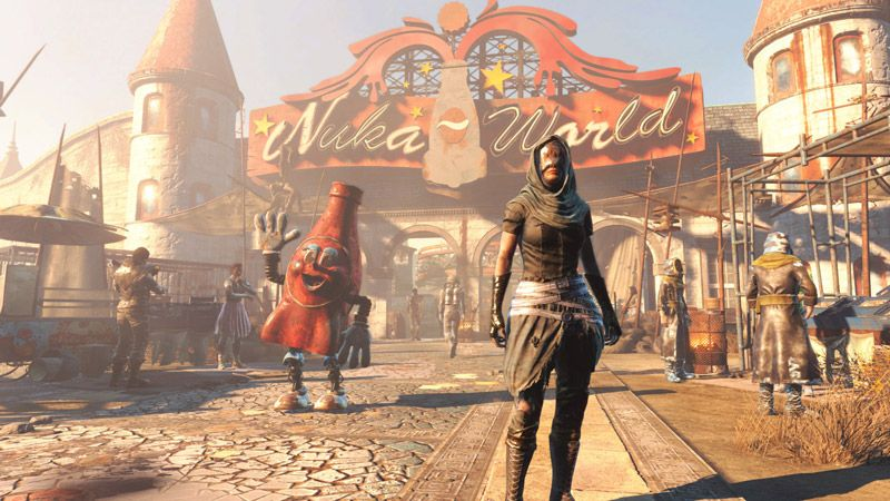 Nuka-Cola World in Fallout - In-game advertisement