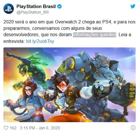 Playstation Brasil Tweet Overwatch 2