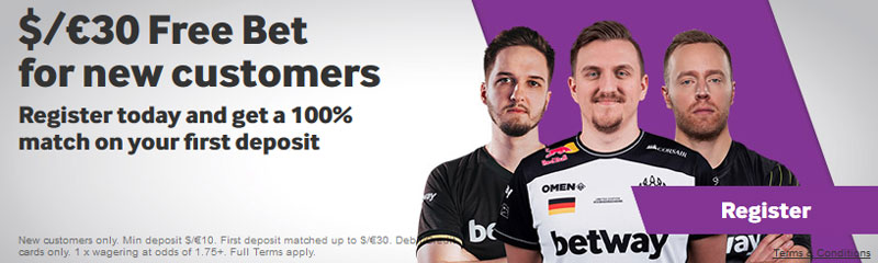 esports betting bonus betway