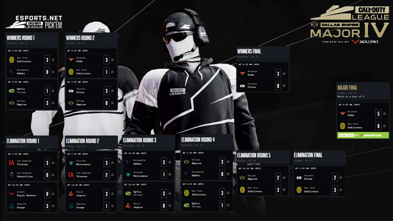 Call of Duty CDL Stage 4 Major Pickem
